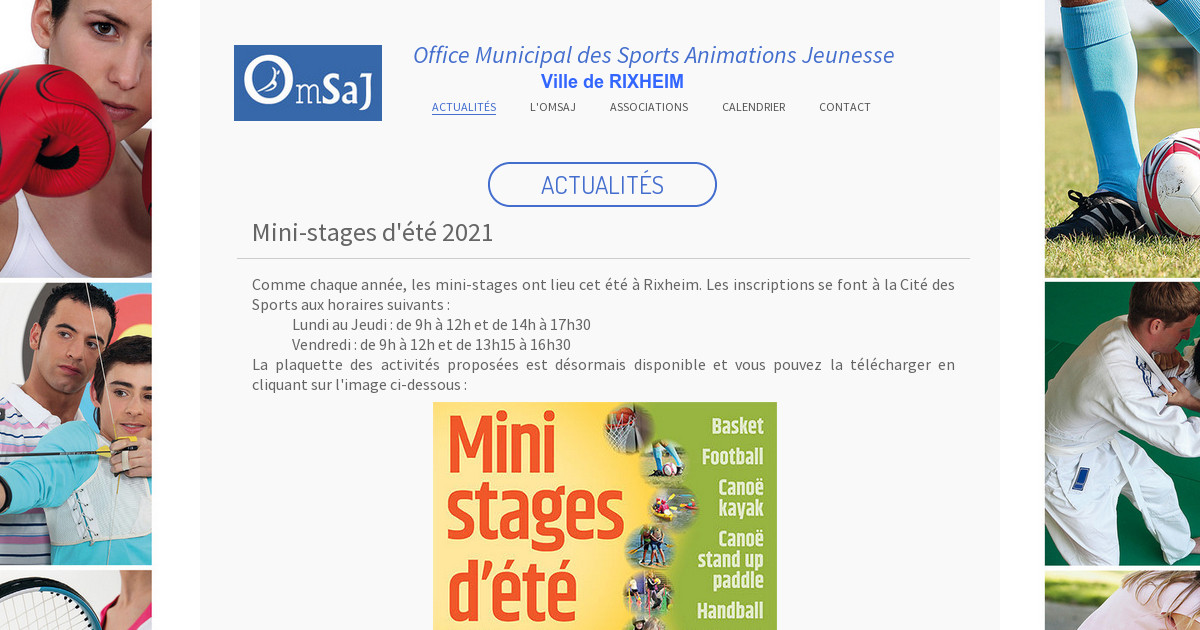 Office municipal des sports animation jeunesse calendrier - Office municipale des sports ...